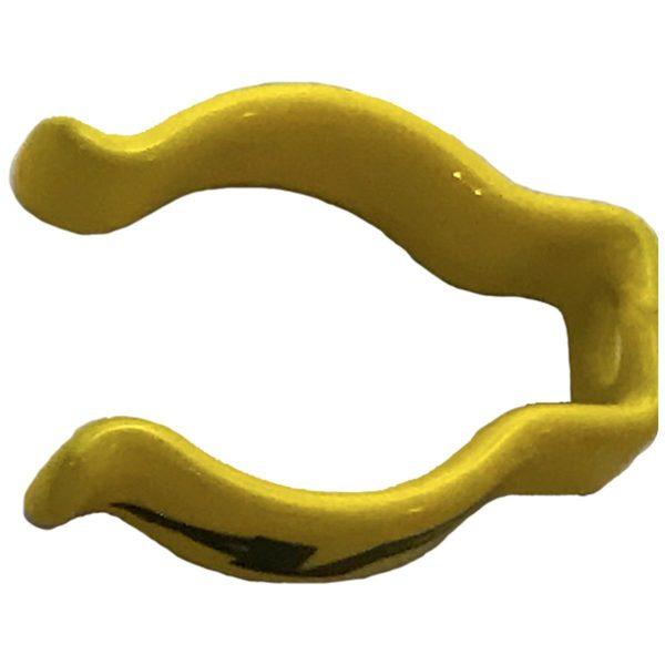 clip di supporto tubi per go kart colore giallo