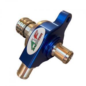 radiator go kart water pump color blue